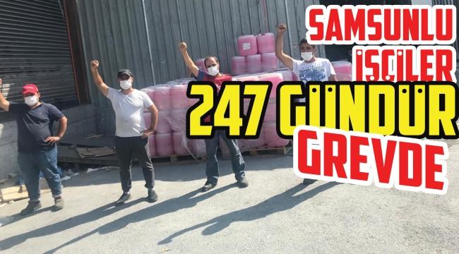 Samsunlu işçiler 247 gündür grevde