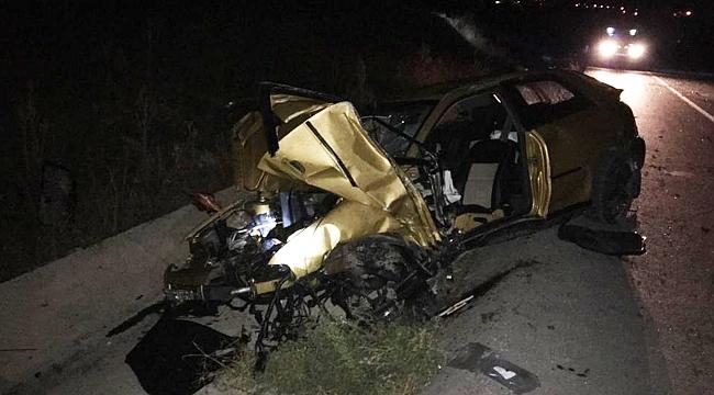 Aracıyla şarampole devrilen polis öldü