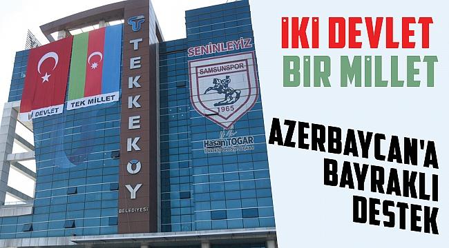 Azerbaycan'abayraklı destek