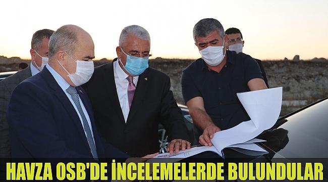HAVZA OSB'DE İNCELEMELERDE BULUNDULAR