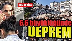 İzmir, Seferihisar'da 6.6 büyüklüğünde deprem
