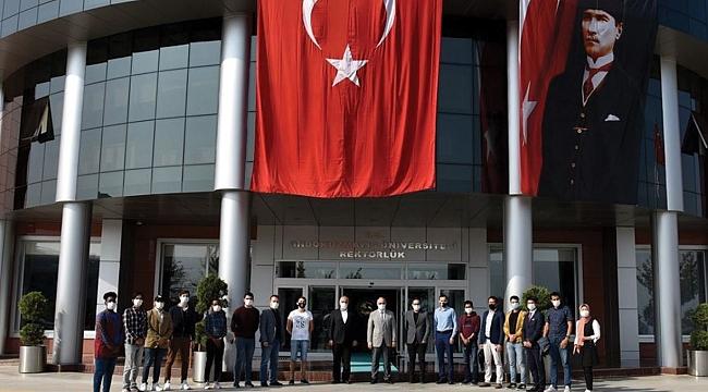 Uluslararası öğrenciler bayramı kutladı