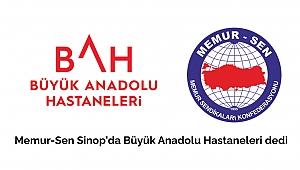 Memur-Sen Sinop'taBüyük Anadolu dedi