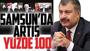 Samsun'da artış yüzde 100