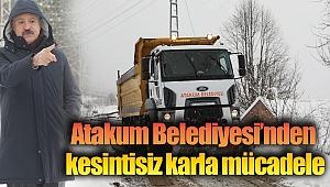 Atakum Belediyesi'ndenkesintisiz karla mücadele
