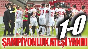 ŞAMPİYONLUK ATEŞİ YANDI 1-0