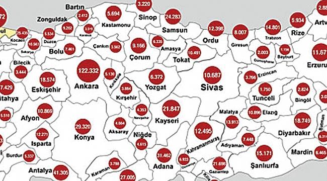 Samsun'da kaç kişi aşı oldu?