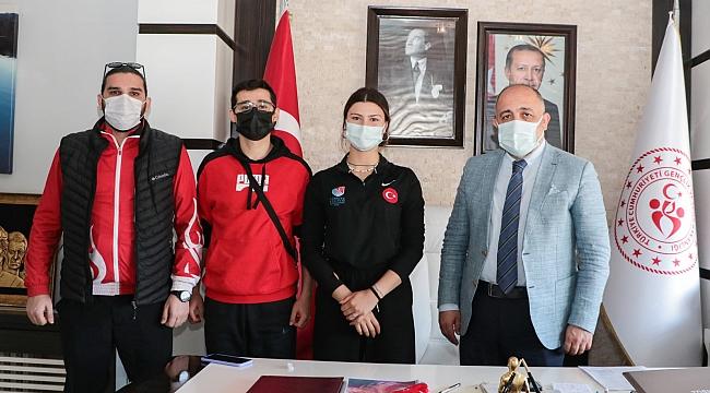 Kasapoğlu, Nisanur Erbil'i ağırladı