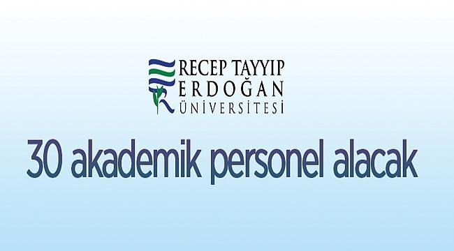Recep Tayyip Erdoğan Üniversitesi Rektörlüğünden:
