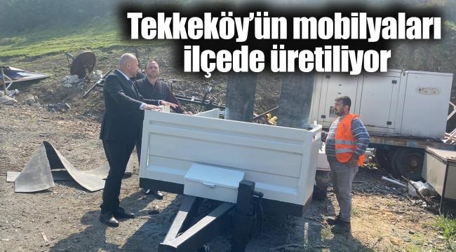 Tekkeköy'ün mobilyaları ilçede üretiliyor