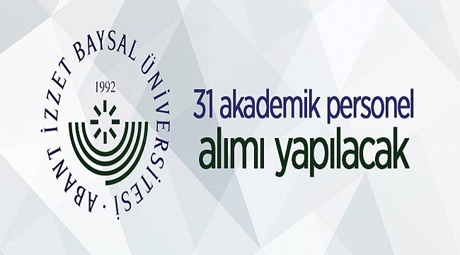 Bolu Abant İzzet Baysal Üniversitesi Rektörlüğünden: ÖĞRETİM ÜYESİ ALIM İLANI