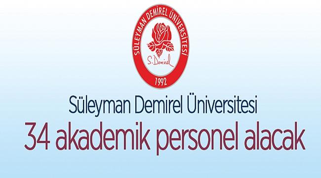 Süleyman Demirel Üniversitesi Rektörlüğünden   ÖĞRETİM ÜYESİ ALIM İLANI
