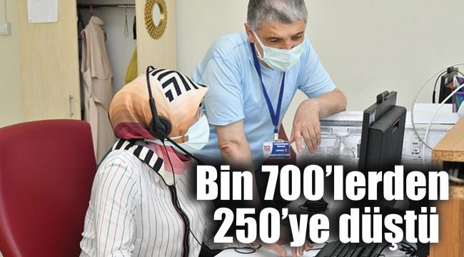 Bin 700'lerden 250'ye düştü