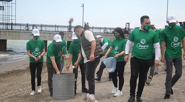 'Cemre' gönüllülerisahil temizliği yaptı