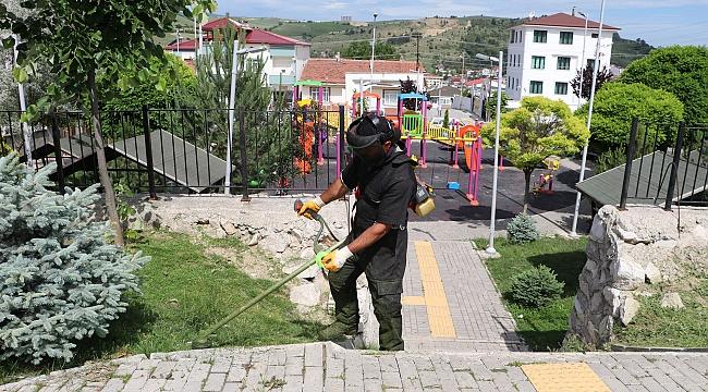 Havza'da park ve bahçeler bakıma alındı