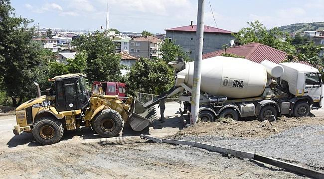 Tekkeköy beton yollarla örülüyor