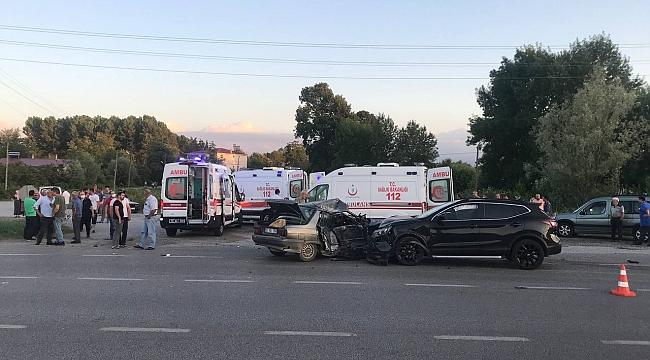 5 araç birbirine girdi