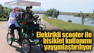 Elektrikli scooter ile bisiklet kullanımı yaygınlaştırılıyor