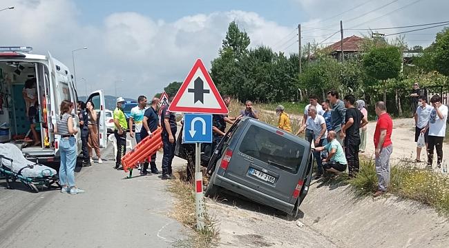 Kamyonet su kanalına devrildi: 6 yaralı
