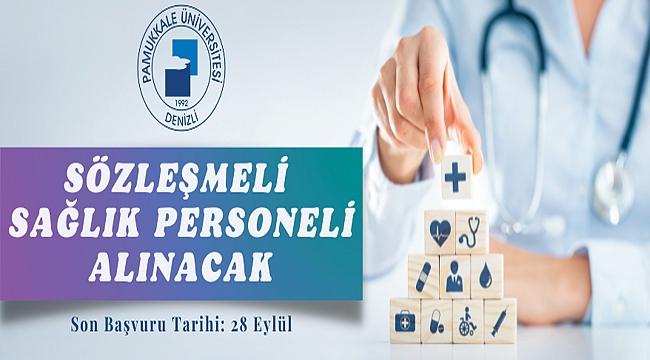 Pamukkale Üniversitesi Rektörlüğünden:  SÖZLEŞMELİ PERSONEL ALIM İLANI