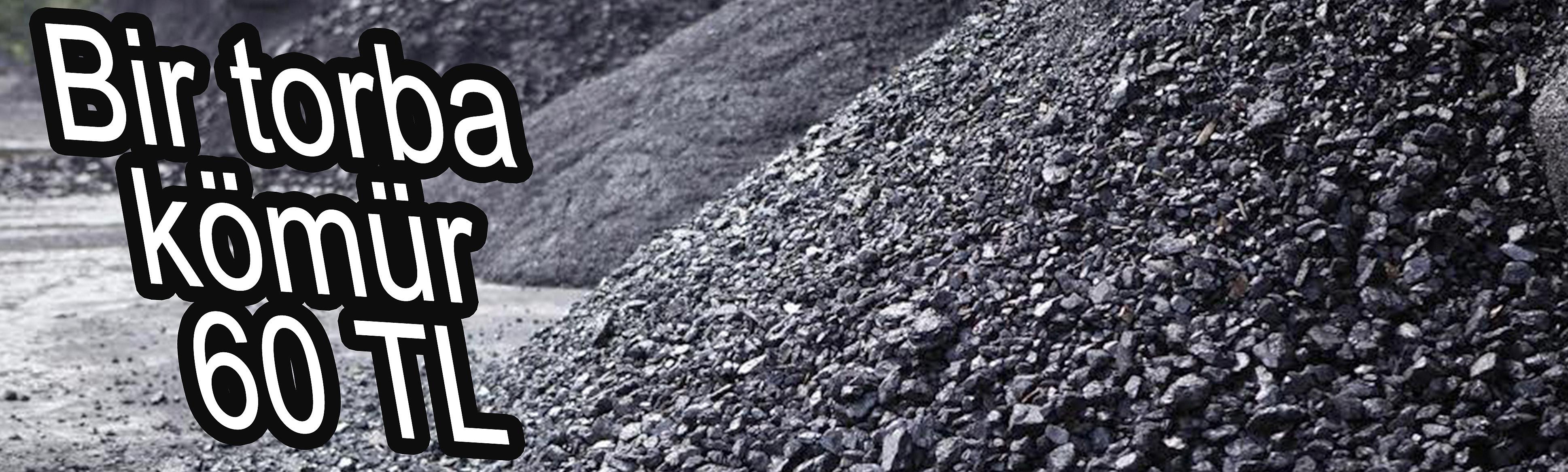 Bir torba kömür 60 TL