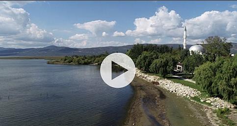 Hızla çekilen İznik Gölü havadan görüntülendi!
