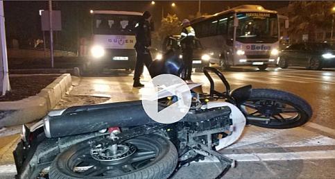 Samsun'da tıra çarpan motosiklet sürücüsü ölümden döndü