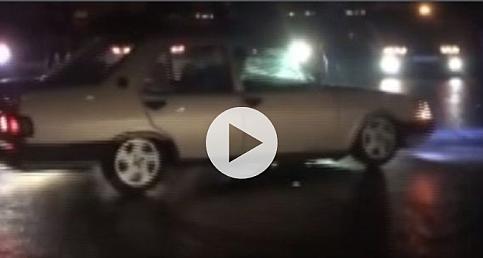 İstanbul'da asker konvoyunda 'drift' terörü kamerada