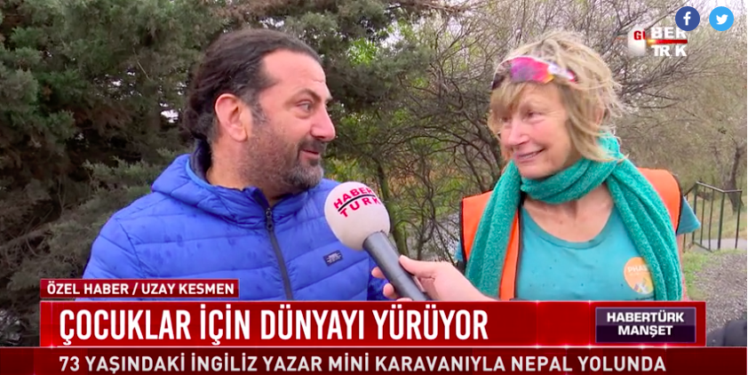 Yürüyen kadın Rosie Türkiye'de