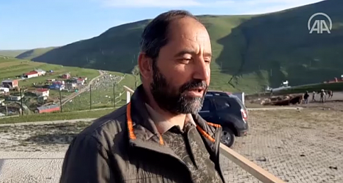 """Ardahan'daki """"Atatürk silüeti"""" görülmeye başlandı"""