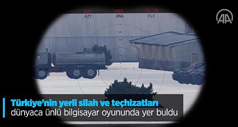 Türkiye'nin yerli silah ve teçhizatları dünyaca ünlü bilgisayar oyununda yer buldu