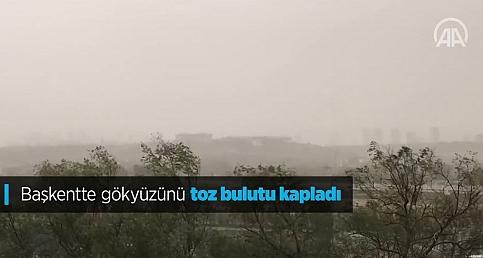 Başkentte kum fırtınası