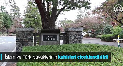İslam ve Türk büyüklerinin kabirleri çiçeklendirildi