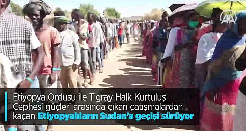 Çatışmalardan kaçan Etiyopyalıların Sudan'a geçişi sürüyor