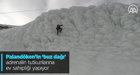 Palandöken'in 'buz dağı' adrenalin tutkunlarına ev sahipliği yapıyor
