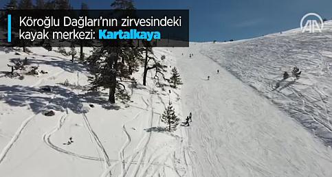 Köroğlu Dağları'nın zirvesindeki kayak merkezi: Kartalkaya