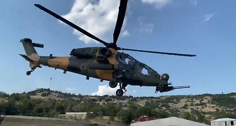 Pençe-Yıldırım operasyonunda 2 terörist ATAK helikopteriyle etkisiz hale getirildi