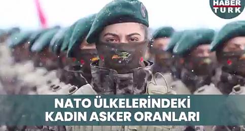 NATO ülkelerindeki kadın asker oranları